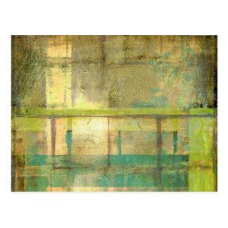 Postales pintura abstracta tarjetas postales for Pintura verde turquesa