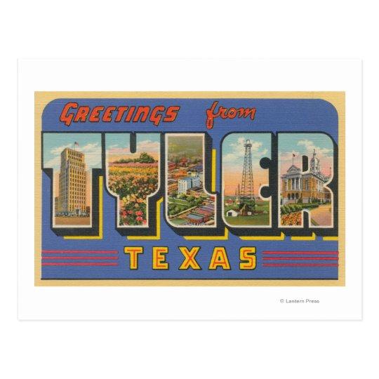 Postal Tyler, letra ScenesTyler, TX de TexasLarge