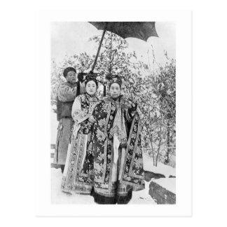 Postal Tz'u su (1835-1908) viudas de emperatriz de China,