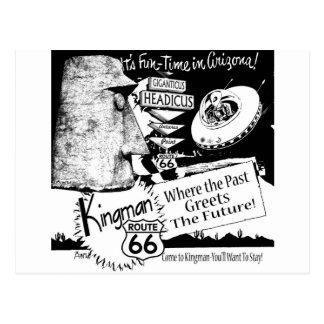 Postal UFO del extranjero de la ruta 66 de Giganticus