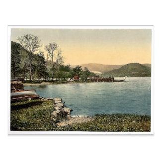 Postal Ullswater, embarcadero de Howtown, distrito del