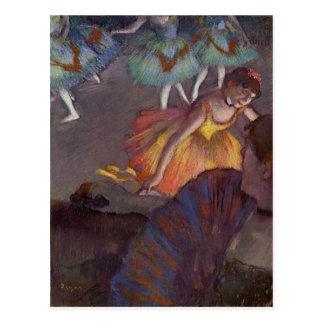 Postal Un ballet visto de la caja de la ópera por Edgar