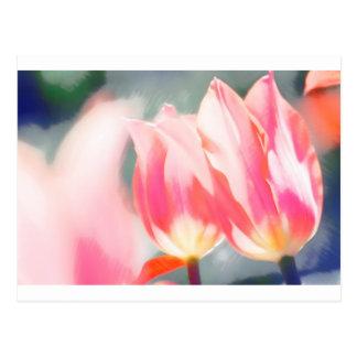 Postal Un bosquejo del dúo del Tulipa