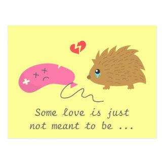 Postal Un cierto amor no se significa para ser, erizo