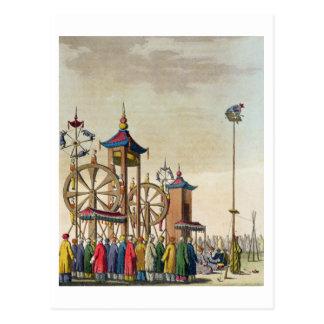 Postal Un circo chino, ejemplo de 'Le Costume An