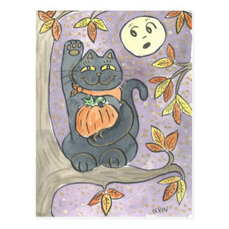 Postal Un deseo de la buena suerte del otoño