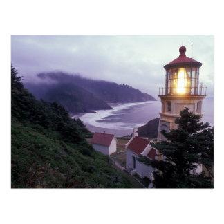 Postal Un día de niebla en la costa de Oregon en el