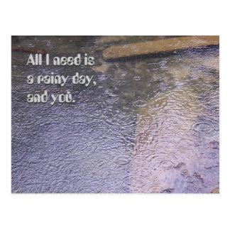 Postal Un día lluvioso, y usted