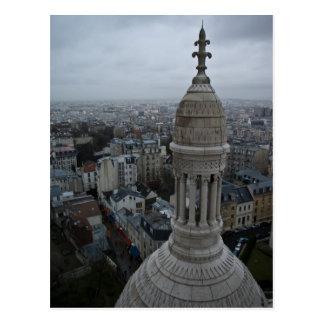 Postal Un día mojado sobre París