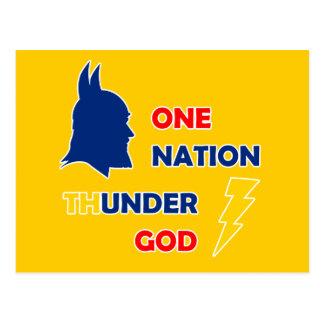 Postal Un dios del trueno de la nación
