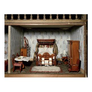 """Postal Un dormitorio en """"Pleasure de señora Bryant"""","""
