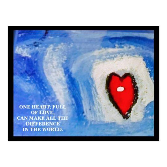 POSTAL UN HEART/CHRISTMAS