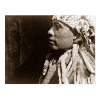 Postal Un hombre indio norteamericano nativo de Wichita