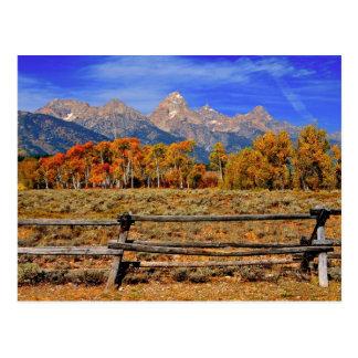 Postal Un momento en Wyoming en otoño