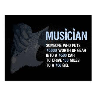 Postal Un músico es…