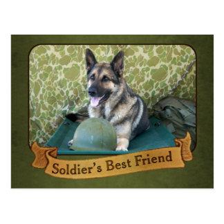 Postal Un pastor es el mejor amigo de un soldado