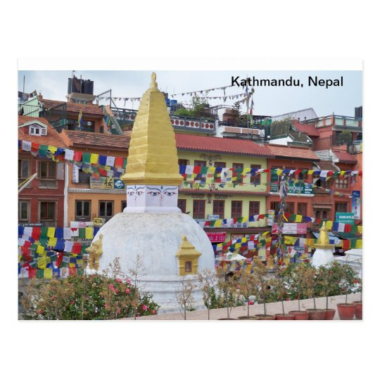 Postal Un pequeño Stupa en Katmandu