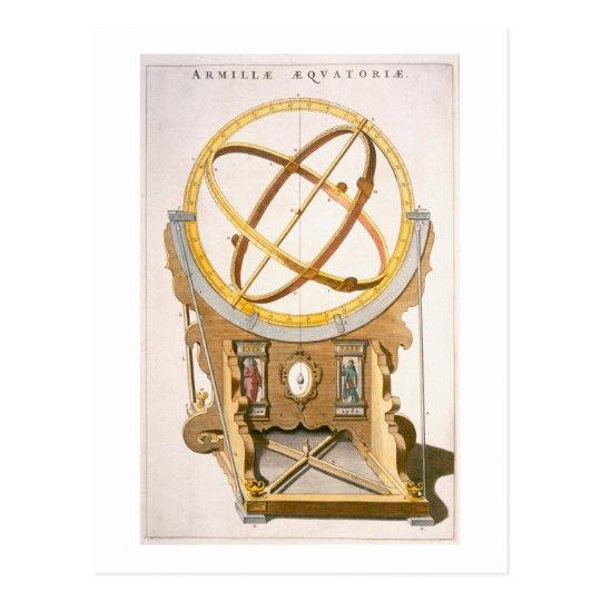 Postal Un planetario diseñado por Tycho Brahe (1546-1601)