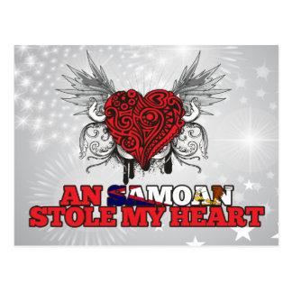 Postal Un samoano robó mi corazón