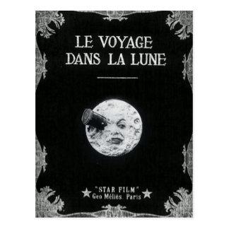 Postal Un viaje al cine francés retro del vintage de la