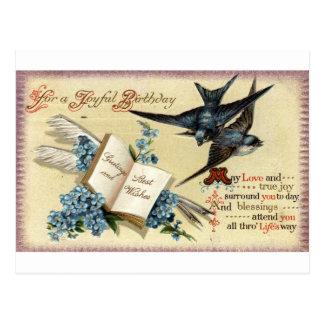 Postal Un vintage alegre del cumpleaños Repro 1913