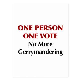 Postal Un voto de la persona una, Gerrymandering