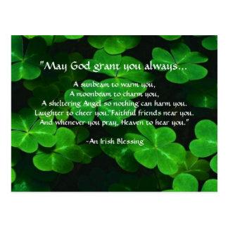 Postal Una bendición irlandesa