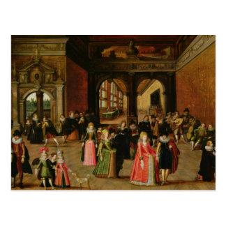 Postal Una bola durante el reinado de Enrique IV