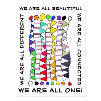 Postal Una de la diversidad celebración única hermosa y