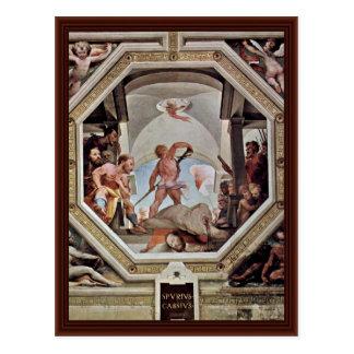 Postal Una de las escenas de la justicia romana