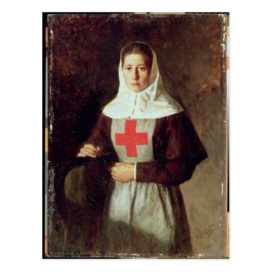 Postal Una enfermera, 1886