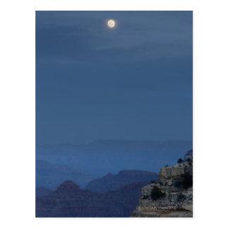 Postal Una Luna Llena sube a través de un cielo de la