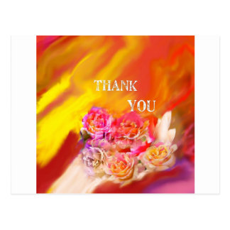 Postal Una mano de gracias tiende por completo hacia