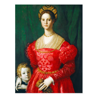 Postal Una mujer joven y su Little Boy, c.1540