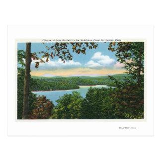 Postal Una ojeada del lago Garfield