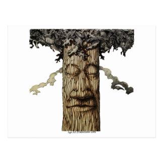 Postal Una página de cubierta poderosa del árbol