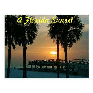 Postal Una puesta del sol de la Florida