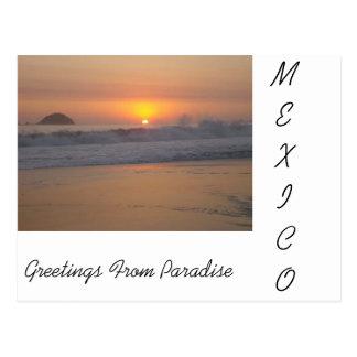 Postal Una puesta del sol en México