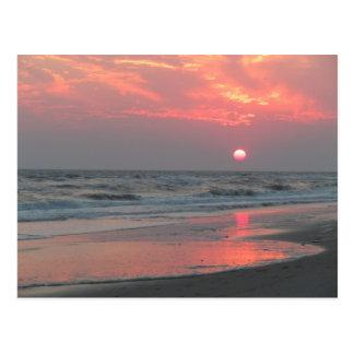 Postal Una puesta del sol perfecta - isla del roble, NC