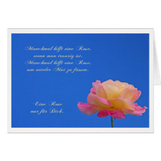 Postal una rosa sólo para Él Tarjeta De Felicitación