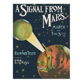 Postal Una señal de Marte