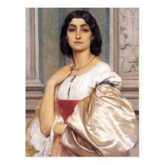 Postal Una señora romana - señor Frederick Leighton