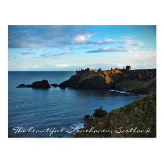 Postal Una vista lejana del castillo mágico de Dunnottar