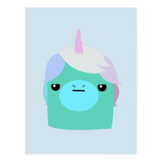 Postal Unicornio enfadado