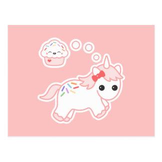 Postal Unicornio ideal de la magdalena