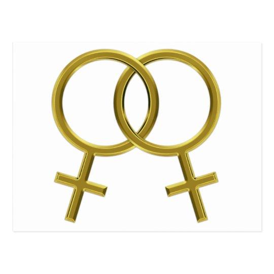Postal Unión lesbiana, símbolos de Venus, mujeres
