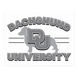 Postal Universidad del Dachshund