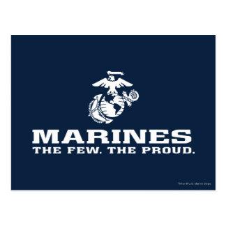 Postal USMC el pocos el logotipo orgulloso apilado -