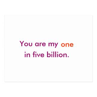 Postal Usted es mi en cinco mil millones