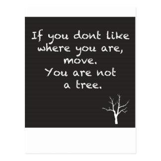 Postal Usted no es un árbol